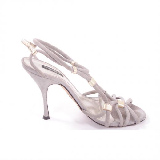 Sandałki Dolce&Gabbana szaro złote