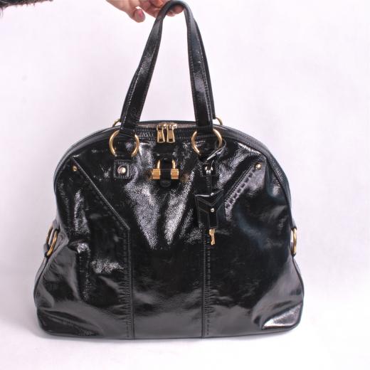 YSL Muse torba lakierowana czarna