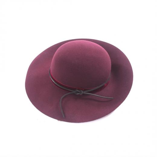 Rag & Bone bordowy kapelusz