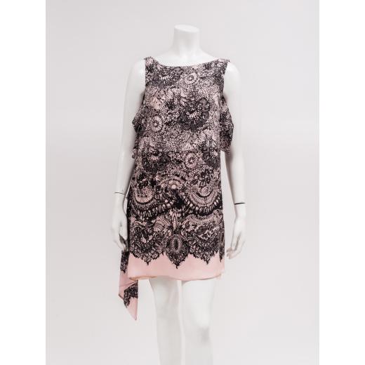 Prada jedwabna sukienka różowa