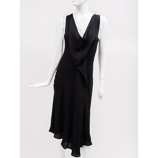 Hussein Chalayan czarna jedwabna sukienka