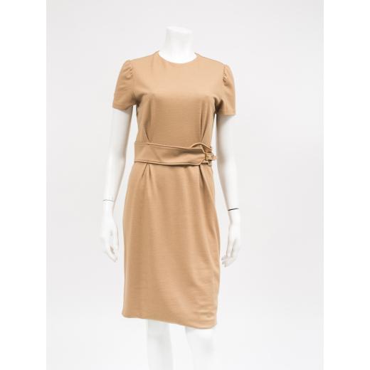 Gucci wełniana sukienka beżowa
