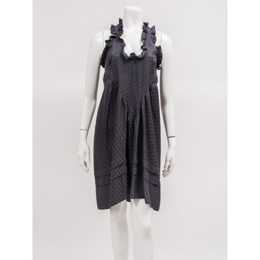 Balenciaga szara sukienka jedwabna