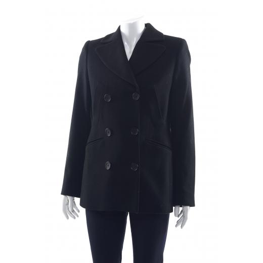 Karl Lagerfeld czarny płaszcz