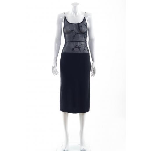 Alessandro Dell'Acqua sukienka czarna przezroczysta