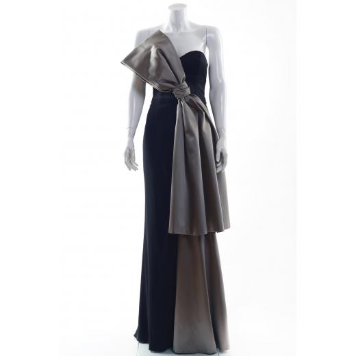 Paul Ka suknia z jedwabiu z kokardą