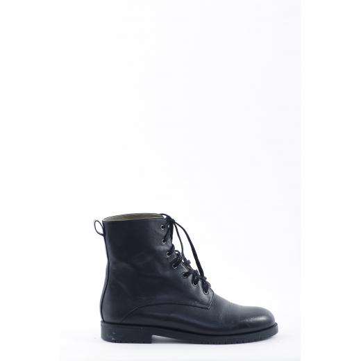Jill Sander botki sznurowane czarne