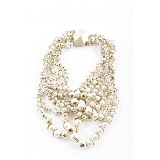 Dior naszyjnik perełki ze złotym