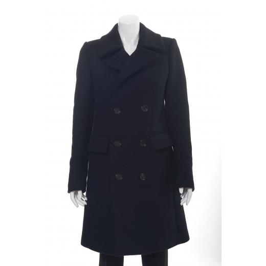 Notify płaszcz czarny klasyczny dwurzędowy