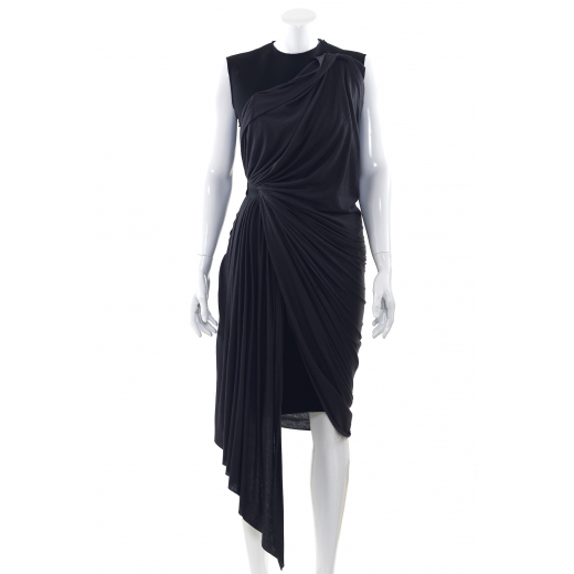 Lanvin sukienka czarno szara