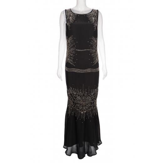 Jedwabna sukienka wieczorowa wyszywana Cavalli Class