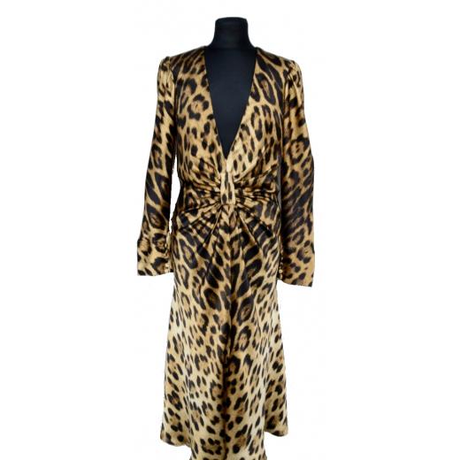Roberto Cavalli jedwabna sukienka
