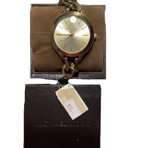 Michael Kors złoty zegarek bransoleta oryginał pudełko Slim Runway
