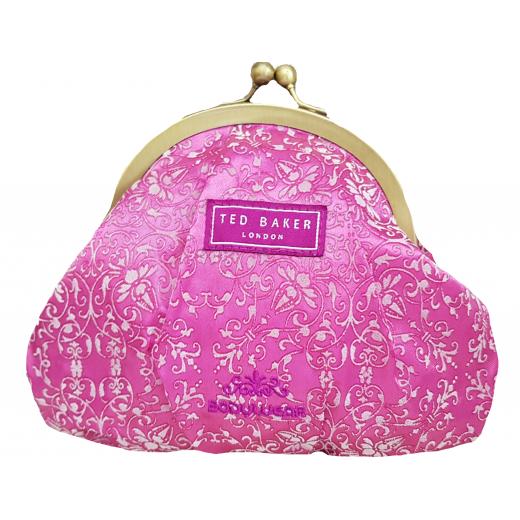 Kosmetyczka/torebka Ted Baker różowa ze wzorem