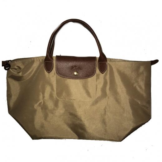torebka top-handle Longchamp w odcieniu bezowym