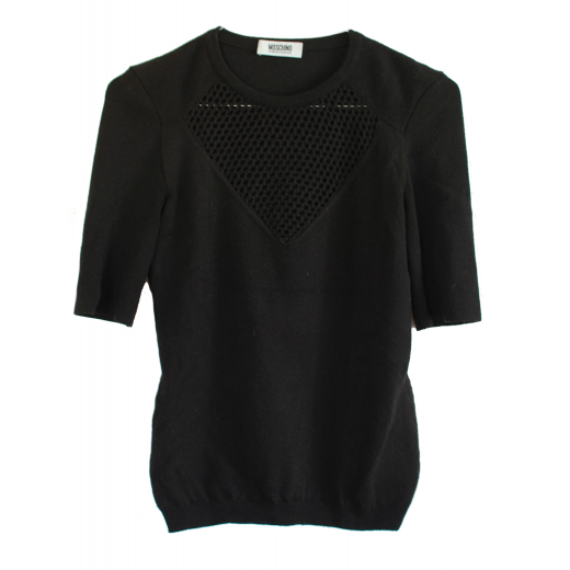 Moschino Mesh Wool Sweater
