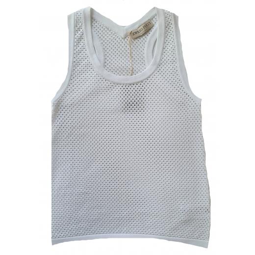 Emilio Pucci biała koszulka, bawełniana, nowa