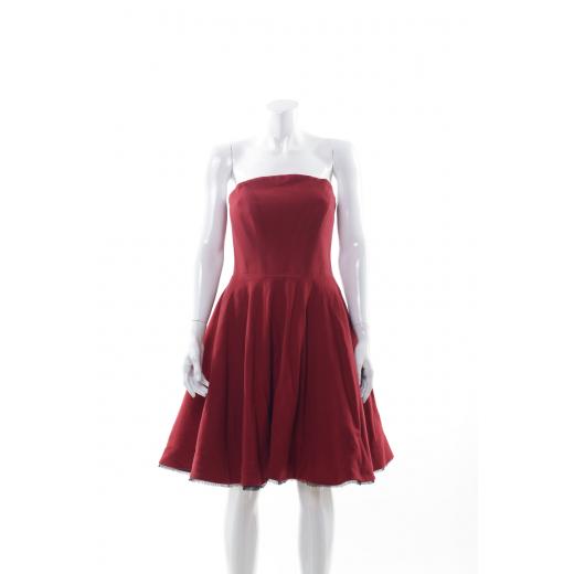 Czerwona sukienka gorsetowa