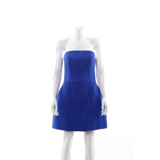 Granatowa sukienka gorsetowa