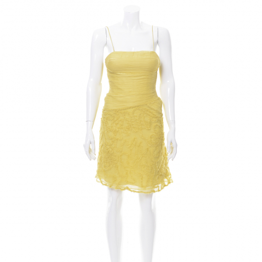 Bcbg Max Azaria sukienka żółta