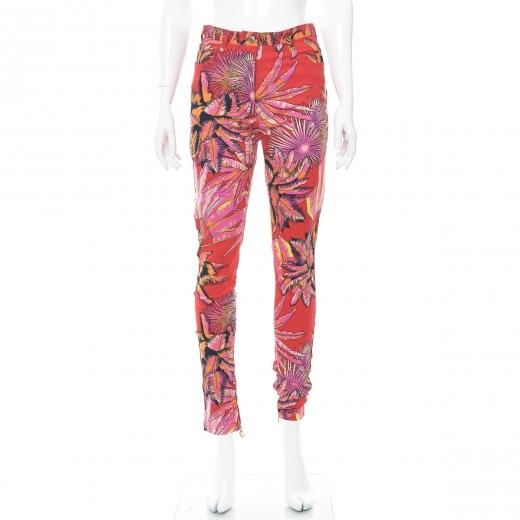 Spodnie w tropikalne wzory