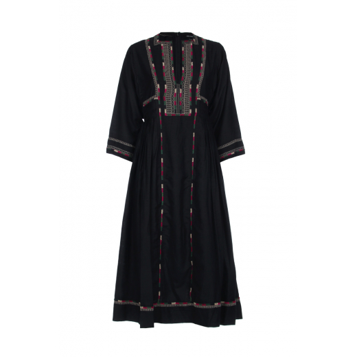 ISABEL MARANT Clayne embroidered silk dress 34/36