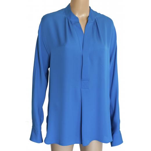 Jedwabna niebieska bluzka