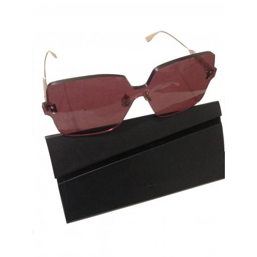 Christian Dior damskie okulary przeciwsłoneczne ColorQuake, dark red