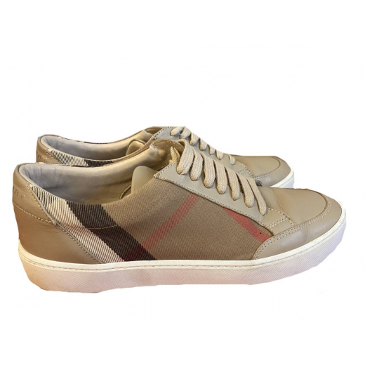 Beżowe sneakersy Burberry Vintage Check