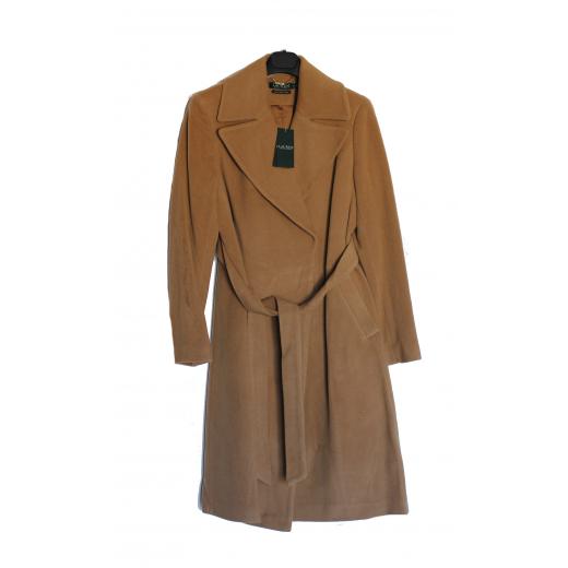 Płaszcz wełniany Lauren by Ralph Lauren Solid Wool Wrap