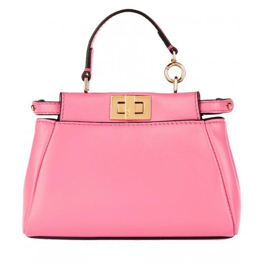 Fendi Micro Peekaboo Nappa Leather Bag, nowa