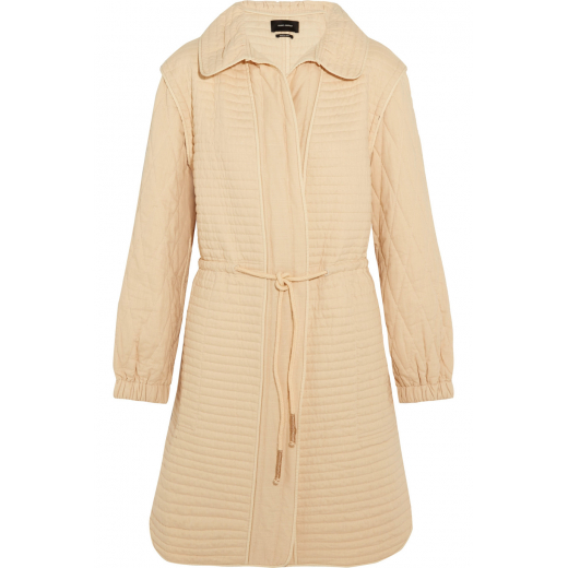 ISABEL MARANT Boyd quilted cotton coat XS-S