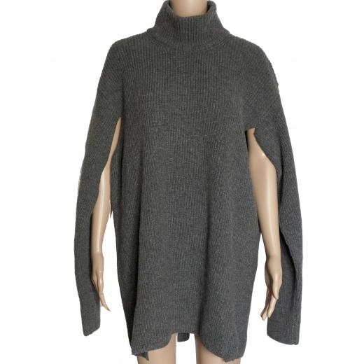 PORTS 1961 – maxi wełniany sweter - ponczo
