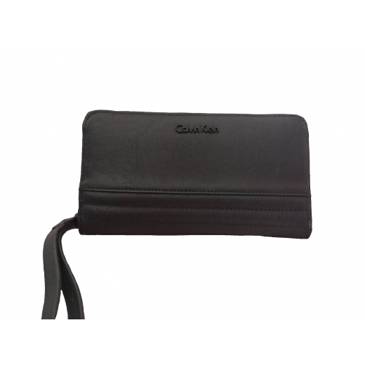 Nowy portfel Calvin Klein CK duży czarny esther ziparound