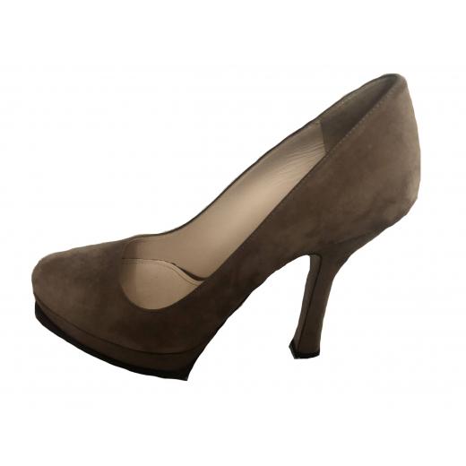 Prada buty zamszowe
