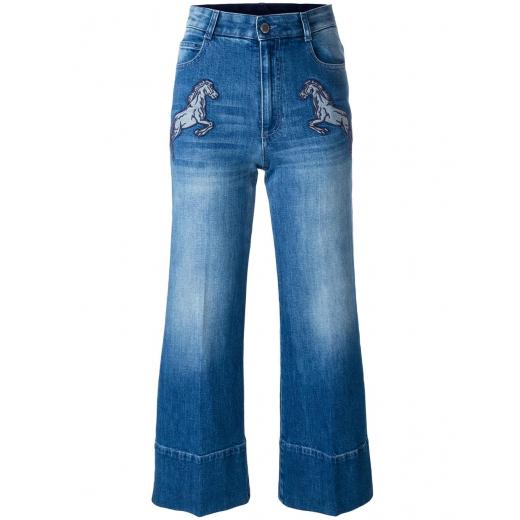 Stella McCartney spodnie running horses culottes