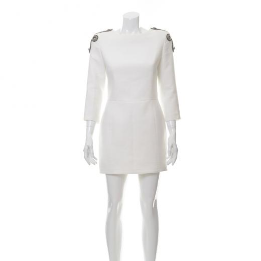 Biała sukienka z aplikacją