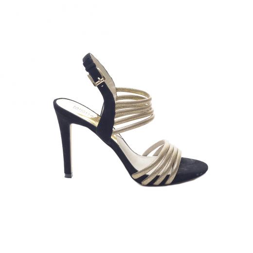 Sandałki ze złotymi paskami