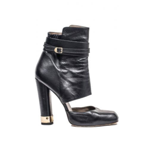 Skorzane botki Versace