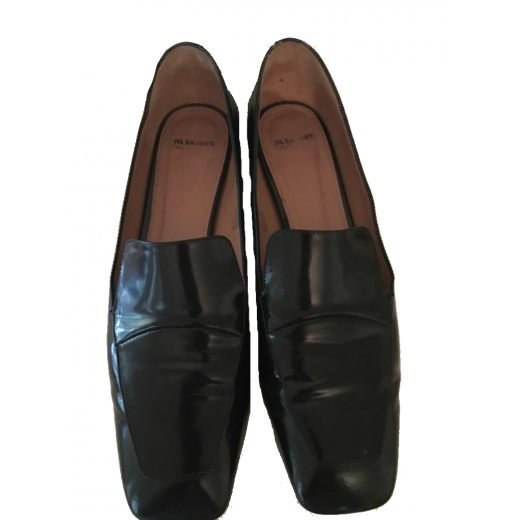 Buty czarne płaskie Jill Sander