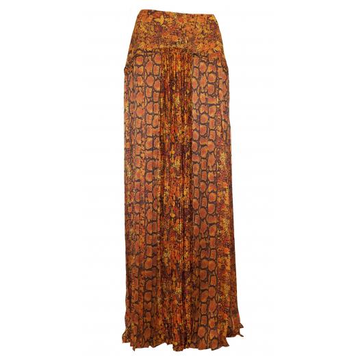 Długa jedwabna spódnica