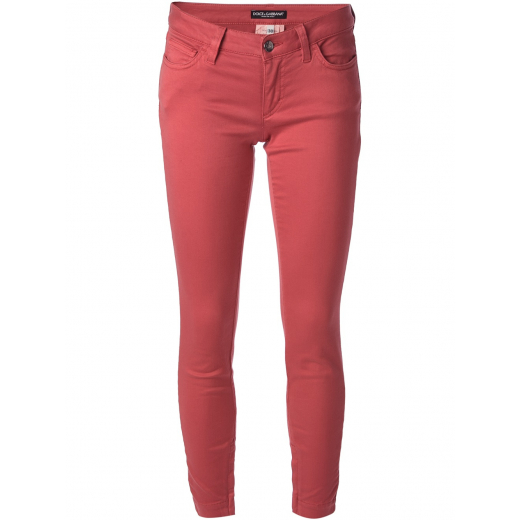 Dolce & Gabbana Red Slim Fit Trouser