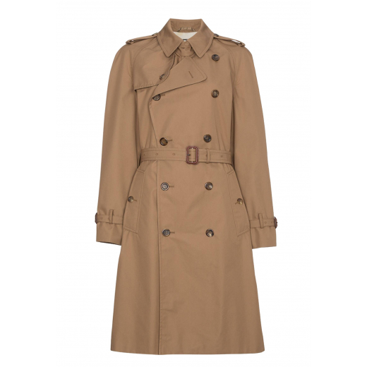 Gucci Cat Embroidered Trench Coat S-M