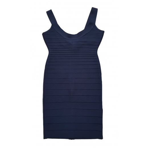 Herve Leger sukienka Blue Sidney Bandage S