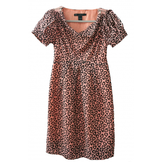 Marc Jacobs różowa sukienka w serca S