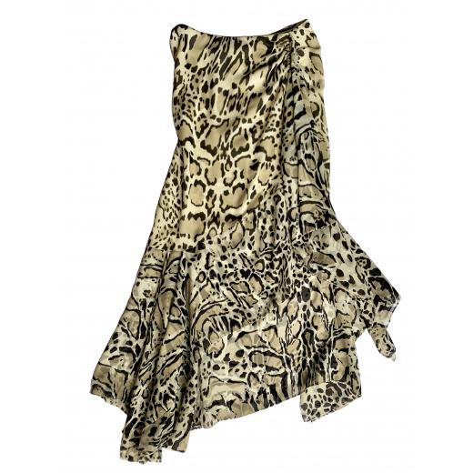 Asymetryczna jedwabna spódnica