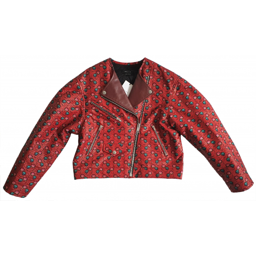 ISABEL MARANT Heaton embroidered biker jacket S-M