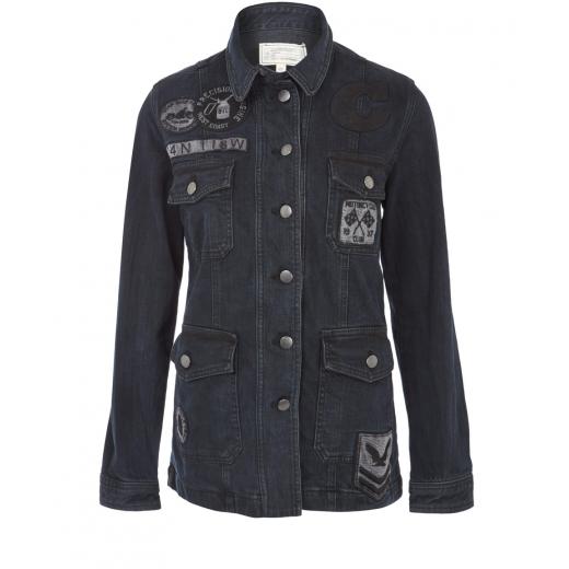 Current/Elliott Black Oversized Denim Jacket S-M
