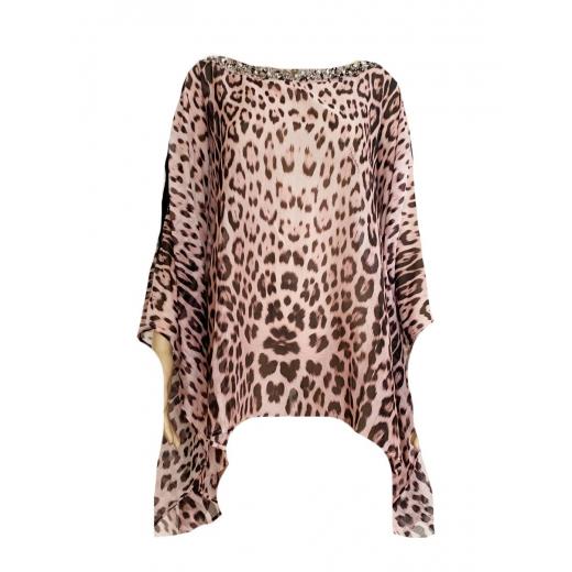 """Krótki kaftan, wzór """"Heritage Leopard"""""""