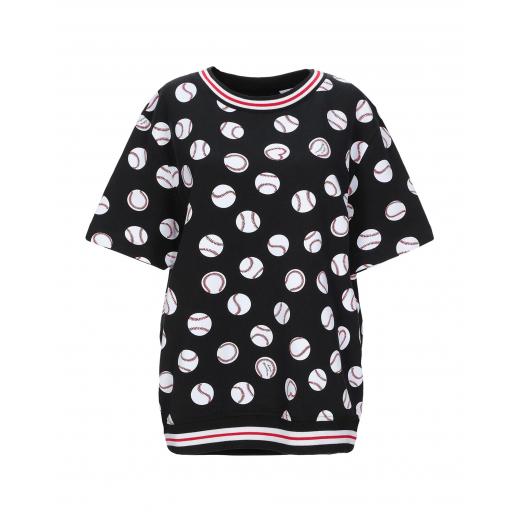 LOVE MOSCHINO baseball print sweatshirt nowy S-M